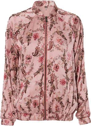 Haute Hippie Clara Floral Bomber Jacket