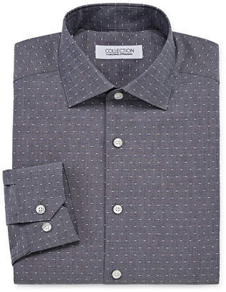 COLLECTION Collection by Michael Strahan Wrinkle Free Cotton Stretch Big And Tall Long Sleeve Woven Dots Dress Shirt