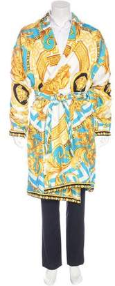 Versace 2017 Coupe des Dieux Silk Bathrobe w/ Tags