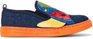 Stella McCartney Toddler/Kids Boys) Blue Super Hero Denim Slip-On Sneakers