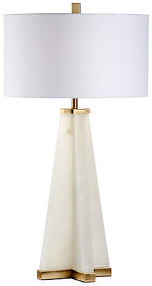 Chelsea House Pyramid Alabaster Table Lamp - Cream