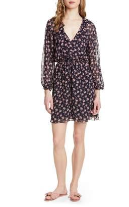 b951c26145 Joie Marelle Ruffle Neck Long Sleeve Silk Dress