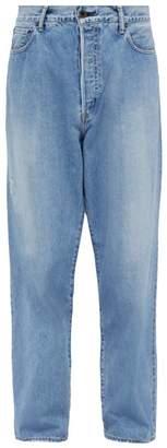 Kuro - Crossed Relaxed Denim Jeans - Mens - Indigo