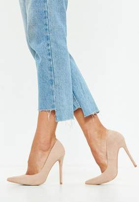 Missguided Nude Pointed Stiletto Pumps