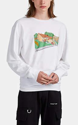 "Off-White Off - White c/o Virgil Abloh Men's ""Architecture"" Cotton Long-Sleeve T-Shirt - White"