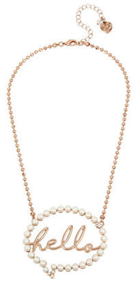 Betsey Johnson Hello Bubble Pendant Necklace