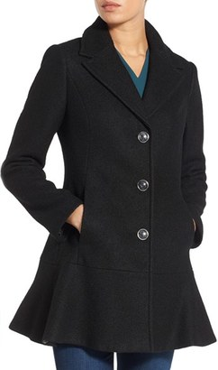Women's Kensie Notch Lapel Peplum Coat $218 thestylecure.com
