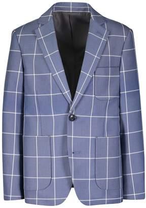 Isaac Mizrahi Single Plaid Blazer