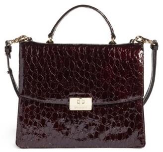 Brahmin Dante Simone Top Handle Leather Satchel - Red $375 thestylecure.com