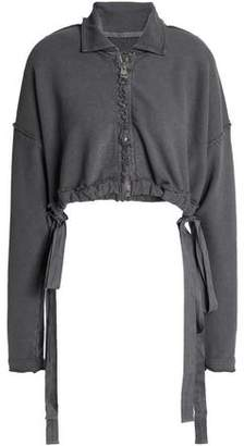 J.W.Anderson Cropped French Cotton-blend Terry Jacket