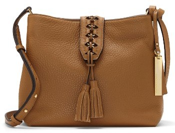 Vince Camuto Ancel Leather Crossbody Bag - Brown