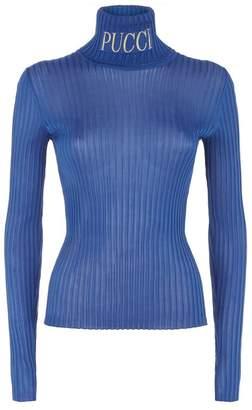 Emilio Pucci Ribbed Logo Sweater