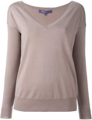 Ralph Lauren deep v-neck sweater $495.20 thestylecure.com