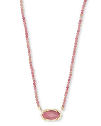 Kendra Scott Elisa Gold Beaded Pendant Necklace