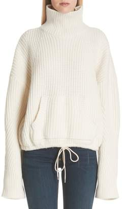 Undercover Ribbed Wool Turtleneck Sweater