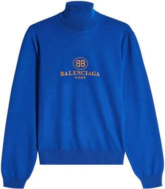 Balenciaga Virgin Wool Turtleneck Pullover