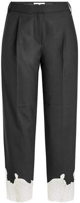 Tibi Lou Lou Cropped Pants with Lace