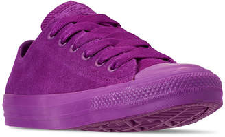 Converse Unisex Chuck Taylor All Star Suede Mono Color Low Top Casual Sneakers from Finish Line