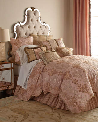 Sweet Dreams Queen Alessandra Scalloped Damask Duvet Cover
