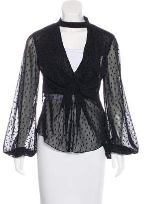 Nicholas Sheer Polka Dot Blouse w/ Tags