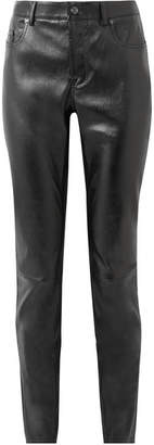 Tom Ford Glossed Stretch-leather Skinny Pants - Black