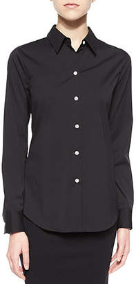 Theory Tenia Long-Sleeve Blouse $245 thestylecure.com