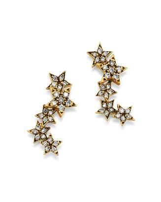 SUEL Blackened 18K Yellow Gold Twinkle Star Diamond Earrings