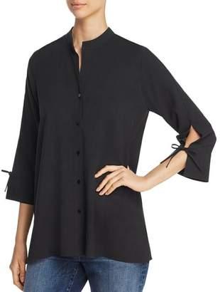 Eileen Fisher Silk Tie-Sleeve Top
