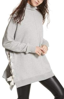 Free People So Plush Lace-Up Pullover