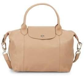 Longchamp Small Le Pliage Cuir Leather Satchel