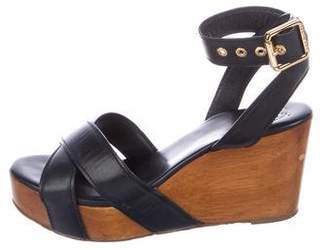 Tory Burch Leather Flatform Sandals