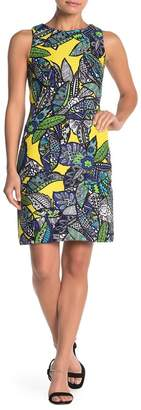 SL Fashions Floral Sleeveless Sheath Dress