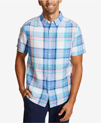 Nautica Men Riviera Plaid Linen Shirt
