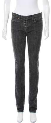 Karl Lagerfeld Mid-Rise Straight-Leg Jeans