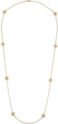 Penny Preville Long 18k Diamond Clover-Station Necklace