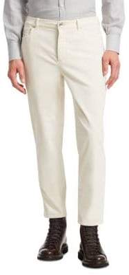 Brunello Cucinelli Men's Straight Leg Cord Pants - Off White - Size 50 (40)