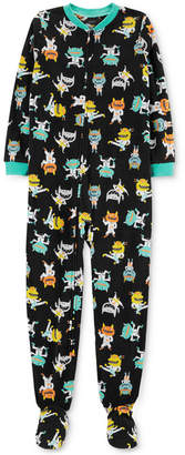 Carter's Carter Little & Big Girls Monster-Print Fleece Footed Pajamas