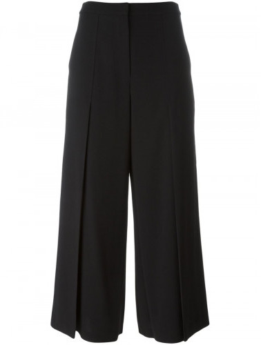 Alexander Wang T By Alexander Wang pleated cropped trousers