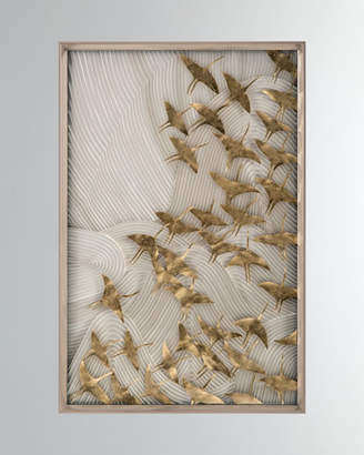 "John-Richard Collection Robot's Birds In Flight"" Wall Art"