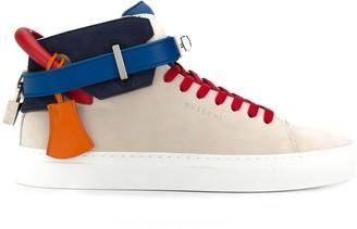 Buscemi colour block hi-top sneakers