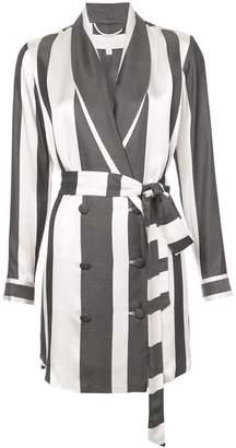 Michelle Mason wide striped elongated jacket
