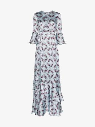 Erdem floral print silk long dress