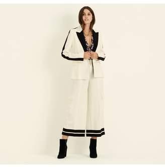Amanda Wakeley Ecru Wool Crepe Jacket