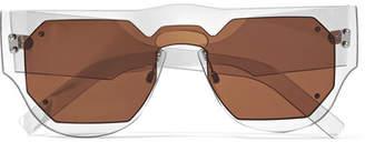 Marni D-frame Acetate Sunglasses - Brown