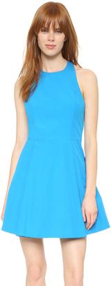 alice + olivia Christie Crew Neck Box Pleat Dress $330 thestylecure.com