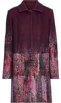 Elie Tahari Tindra Degrade Printed Wool-blend Coat