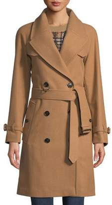 Burberry Cranston Wool-Blend Short Trench Coat