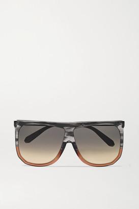 Loewe Filipa Oversized Two-tone D-frame Acetate Sunglasses