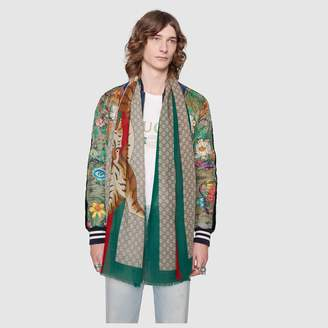 Gucci Tiger Web print wool stole