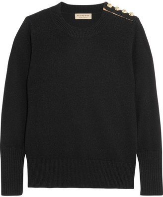 Burberry - Embellished Cashmere Sweater - Black $650 thestylecure.com